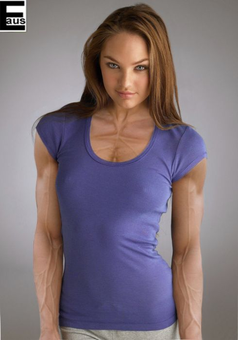 Hot Female Celebs With Weird Photoshopped Muscles (20 pics)
