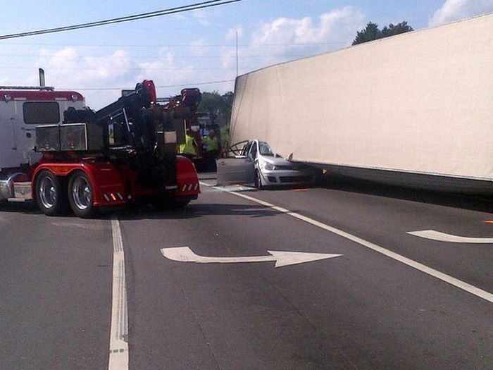 When A Car Takes On A Truck The Car Will Lose (6 pics)