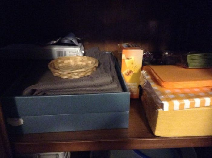 Man Leaves A Surprise In The Secret Food Stash (6 pics)
