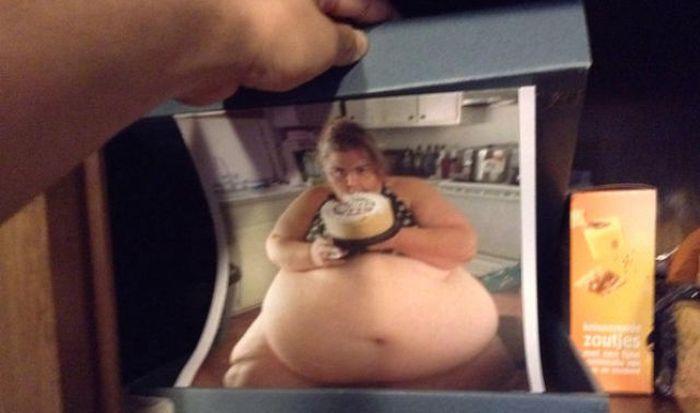 Man Leaves A Surprise In The Secret Food Stash (6 pics)