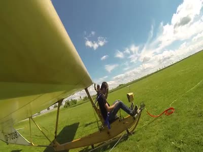 Awesome Flight On A Primary Glider