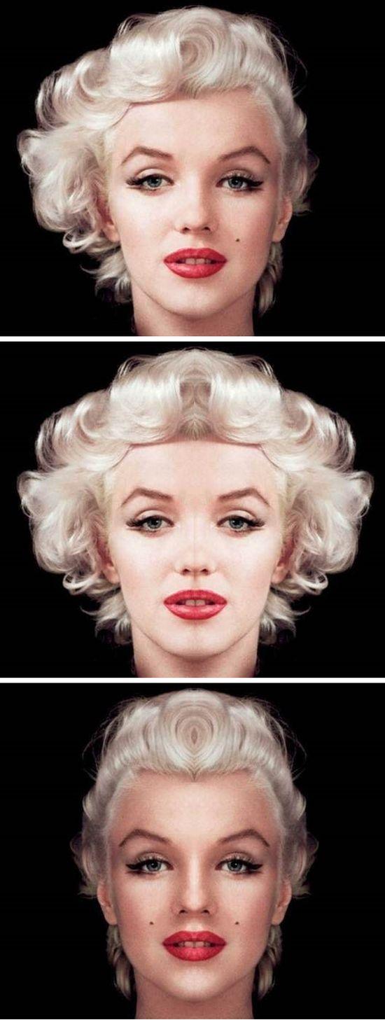 Symmetrical Faces Of Celebrities Are Quite Creepy (10 pics)