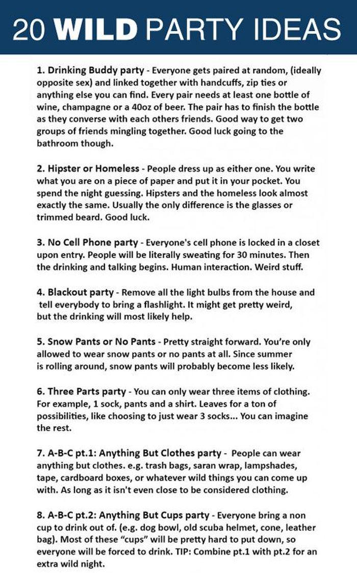 20 Unique Ideas For Your Next Party (2 pics)