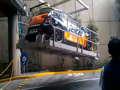 Lifting The Race Car Gone Totally Wrong