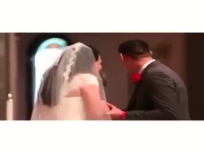 Funny High Five During The Wedding Ceremony