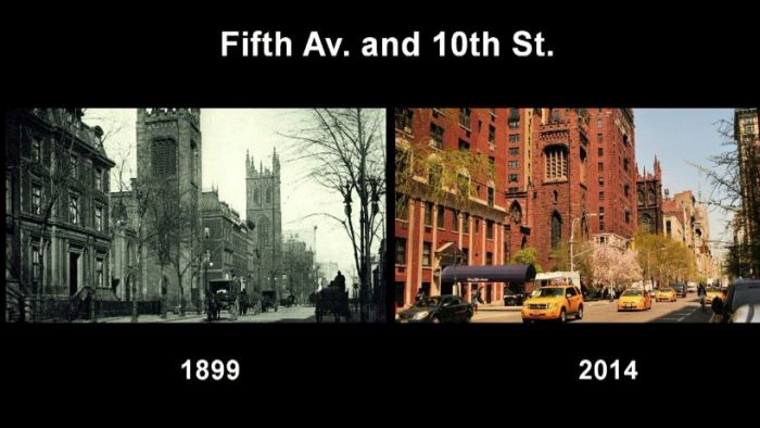 New York City Back In The Day And Today (18 pics)
