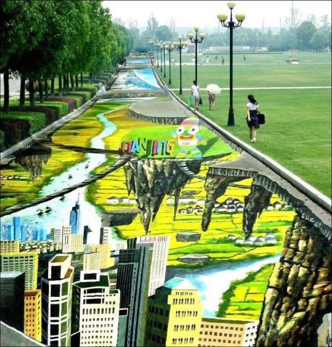 The Largest 3D Painting On The Planet (5 pics)