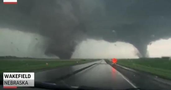 Scary Double Tornado In Wakefield