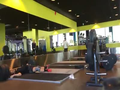 Failing To Lift Up A Weight At The Gym