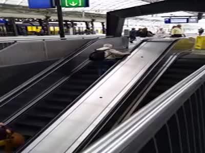 Walking The Wrong Way On The Escalator
