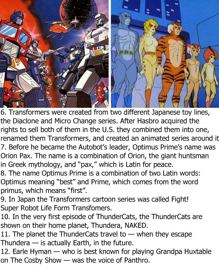 Crazy Facts About 80s Cartoons (6 pics)