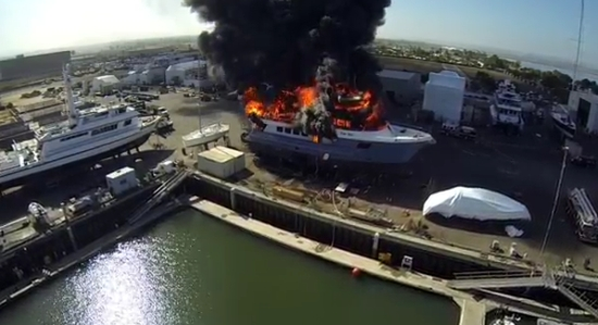 24 Million Dollar Yacht Destroyed By Fire