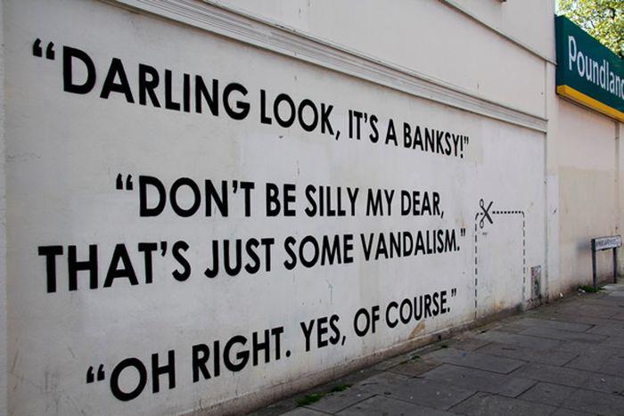 Sarcastic Street Art With A Great Sense Of Humor (19 pics)