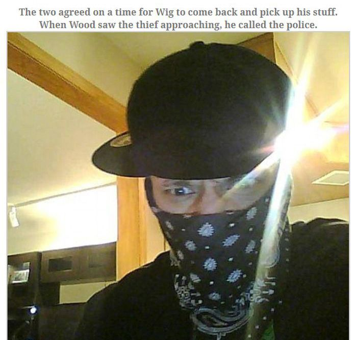 Burglar Gets Busted For Logging Onto Facebook (7 pics)
