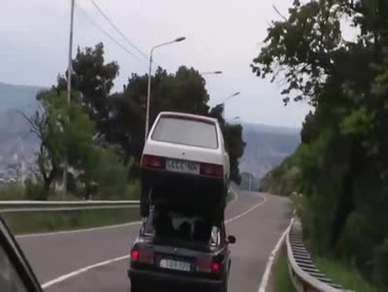 Epic Russian Car Transportation