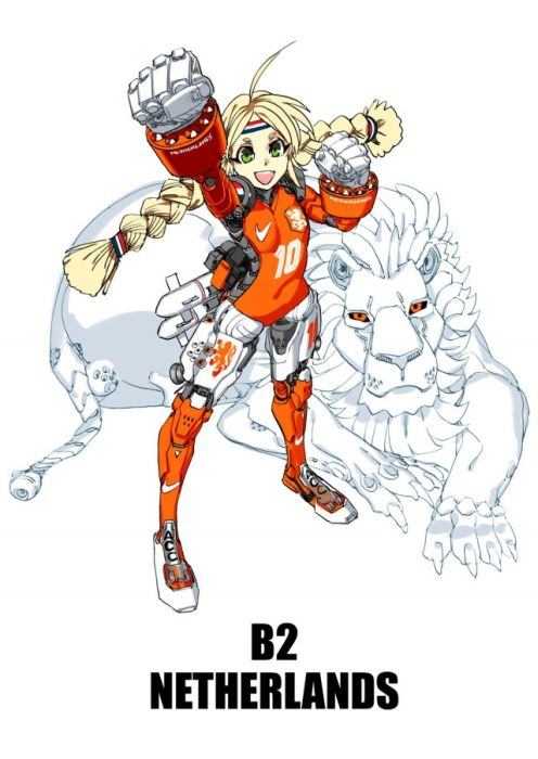 Anime Mascots For Your Favorite World Cup Teams (32 pics)