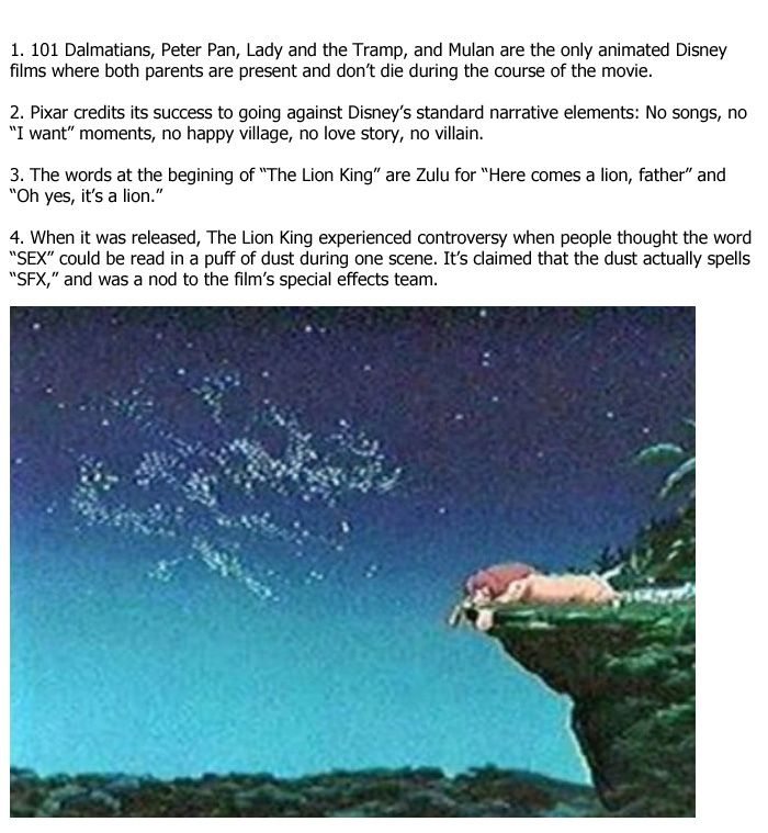 Amazing Facts You Didn't Know About Disney Movies (12 pics)