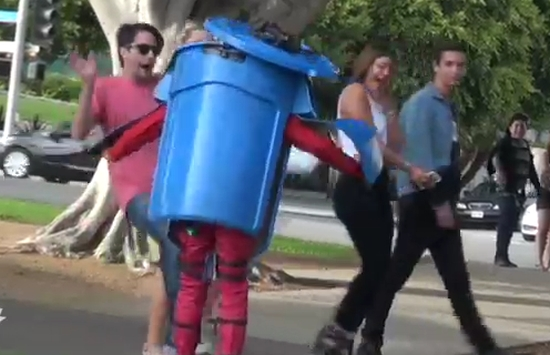 Hilarious Trash Can Transformer Prank