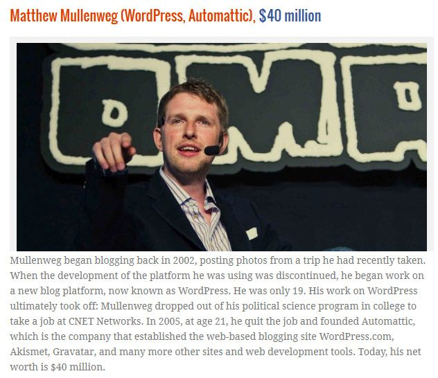 Website Owners That Became Rich Before Age 25 (10 pics)