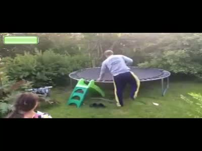 Drunk Guy On Trampoline Fail