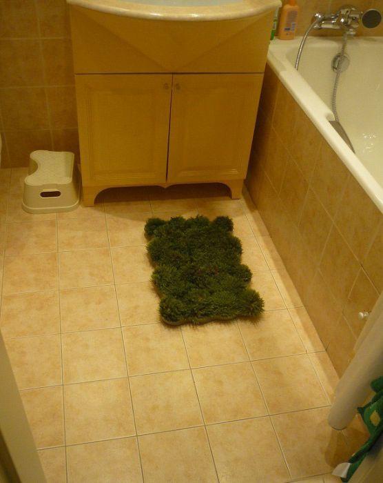 Homemade Grass Bath Mat (9 pics)