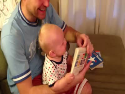 Baby Discovered A Hilarious Book