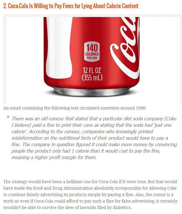 The Top 10 Lies About Coca Cola (10 pics + 2 video)