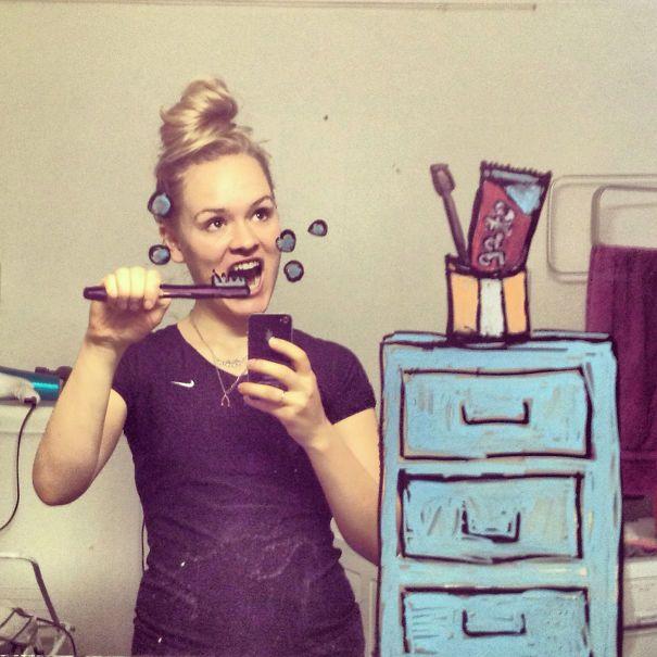 Amazing Art On The Bathroom Mirror (26 pics)
