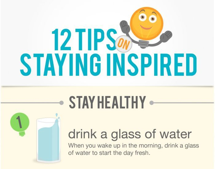 How To Stay Inspired And Happy (infographic)