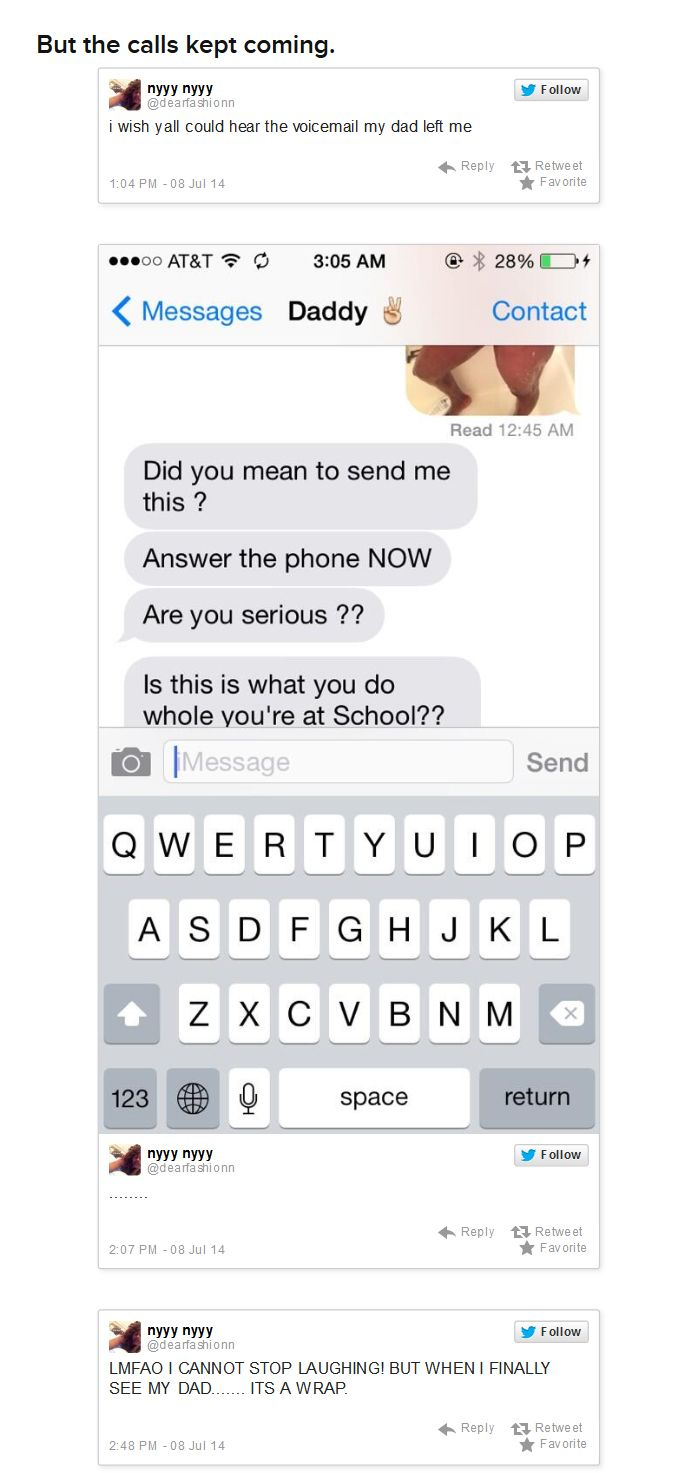 That Awkward Moment When You Send Nudes To Dad (8 pics)