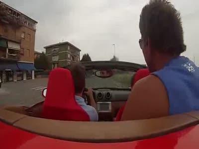Ferrari Test Sürüşü, ferrari Kazası