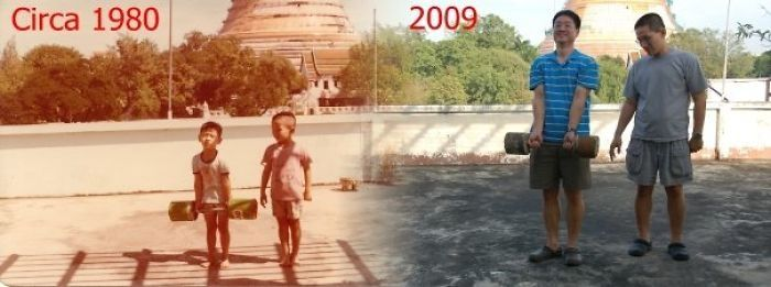 Pictures From Back In The Day And Today (30 pics)