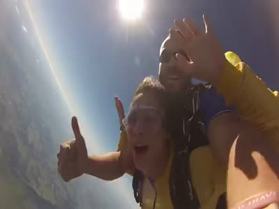 Girl Loses Her Shoe While Skydiving