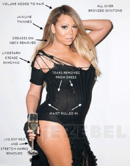 Mariah Carey Before And After Photoshop (5 pics)