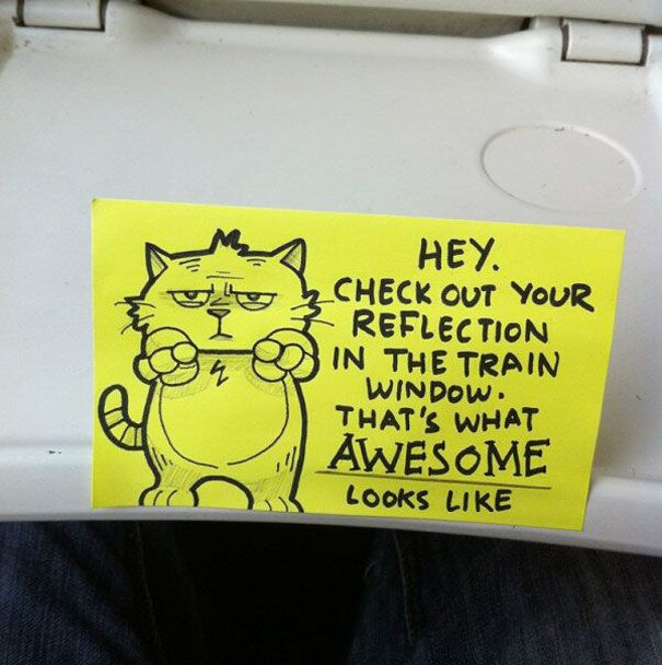 This Train Ride Comes With Some Motivational Notes (15 pics)