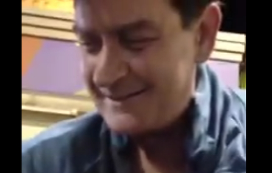 Drunk Charlie Sheen Shows His Tattoos