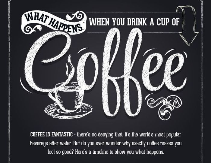 How A Cup Of Coffee Really Effects Your Body (infographic)