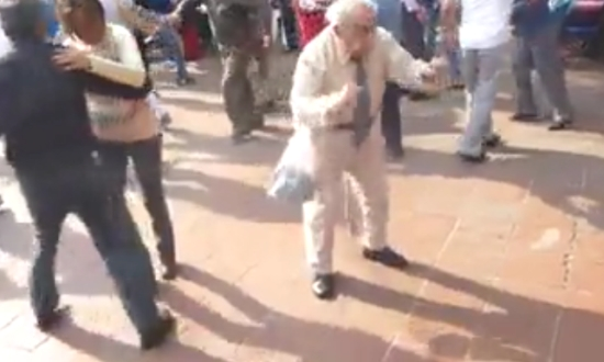 Grandfather Dancing At The Wedding
