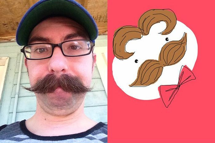 Selfies As Drawn By Strangers (26 pics)