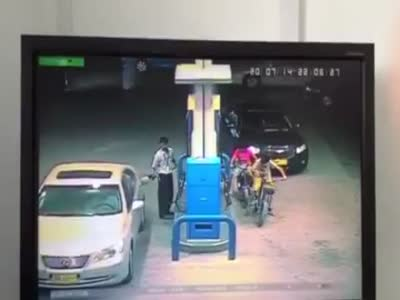 Fire Explosion At The Gas Station