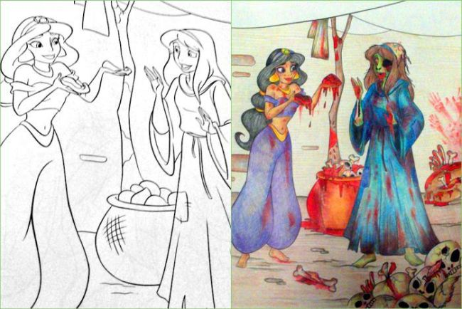 The Most Shocking Kid's Coloring Book Ever (24 pics)