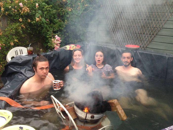 Homemade DIY Hot Tub (22 pics)