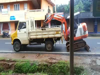 Mini Excavator Self Loading Win