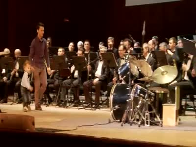 3-Year-Old Drummer Plays Concert With A Symphony