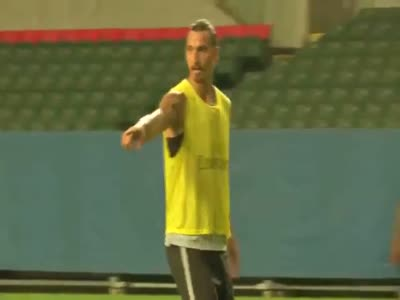 Zlatan Ibrahimovic Scored A Great Goal