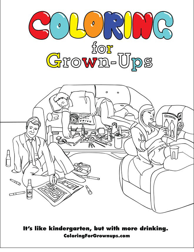 If Grown Ups Used Coloring Books (18 pics)