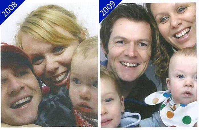 The Same Photo Booth Picture Every Year For 13 Years (7 pics)