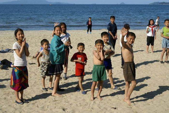 kuzey kore, yaz kampı, yaz kampı resimleri, yaz kampı görüntüleri