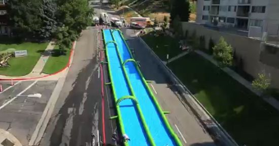 Awesome Slip'N Slide On The Street