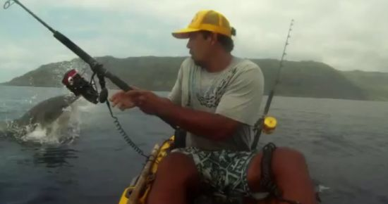 Close Call With A Shark While Fishing